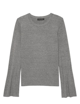 Milano Stitch Flare Sleeve Sweater by Banana Repbulic