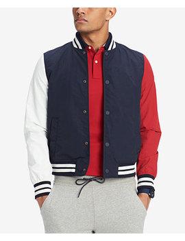 Men's Colorblocked Baseball Jacket by Tommy Hilfiger