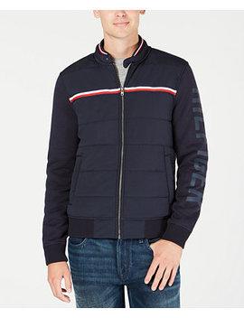 Men's Monroe Full Zip Knit Bomber Jacket by Tommy Hilfiger