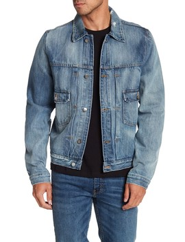L'homme Collared Denim Jacket by Frame Denim