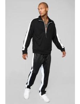 Power Track Pants   Black/White by Fashion Nova