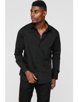 Classic Long Sleeve Woven Top   Black by Fashion Nova