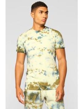 Jimmy Short Sleeve Tee   Green/Combo by Fashion Nova