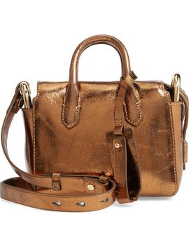 Mini Metallic Leather Shoulder/Crossbody Satchel by J.Crew