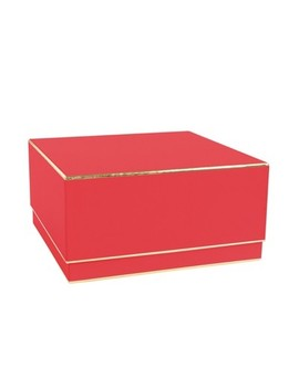 Red With Gold Edge, Large Square Box   Sugar Paper™ by Sugar Paper