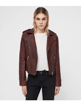 Hadi Leather Biker Jacket by Allsaints