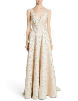 Reembroidered Cloqué Gown by Carmen Marc Valvo Couture