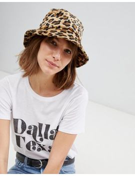 Stradivarius Leopard Bucket Hat by Stradivarius