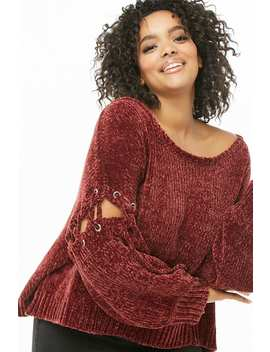 Plus Size Mina Lisa Chenille Sweater by Forever 21