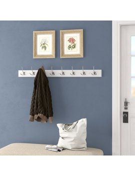 Charlton Home Quon Tri Hook Wall Mounted Coat Rack & Reviews by Charlton Home