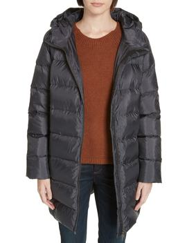 Hooded Down Cocoon Coat by Eileen Fisher