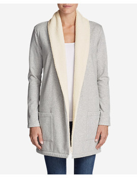 Women's Camp Fleece Sherpa Cardigan by Eddie Bauer