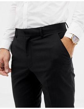 Asos Design Skinny Crop Suit Trousers In Black by Asos Design