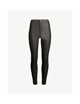 Coated Joni High Rise Skinny Jeans by Topshop