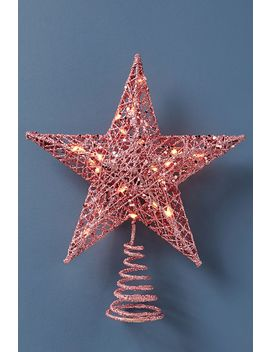 Mini Golden Star Tree Topper by Anthropologie
