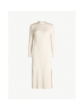 Split Hem Ribbed Jersey Dress by Topshop