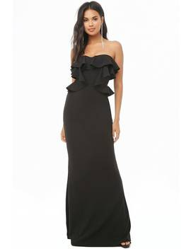Ruffle Maxi Tube Dress by Forever 21