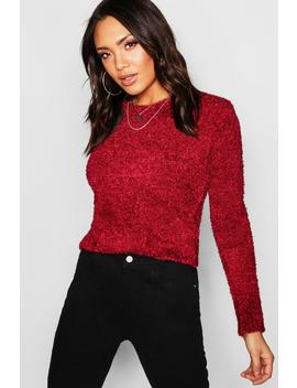 Teddy Feather Knit Jumper by Boohoo