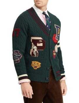 Wool Varsity Cardigan by Polo Ralph Lauren