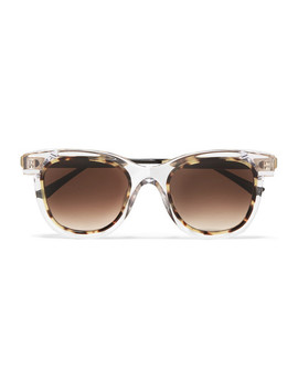Savvvy Cat Eye Tortoiseshell Acetate And Gold Tone Sunglasses by Thierry Lasry