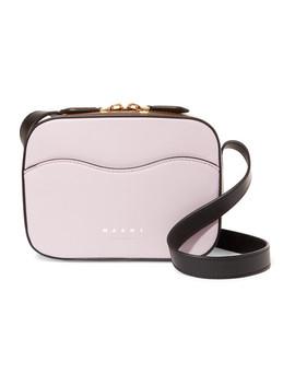 Color Block Leather Shoulder Bag by Marni