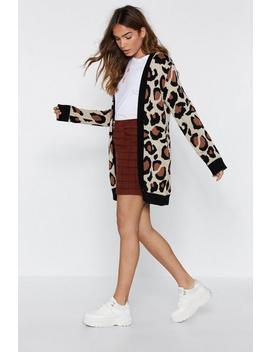 Not A Knitter Leopard Cardigan by Nasty Gal