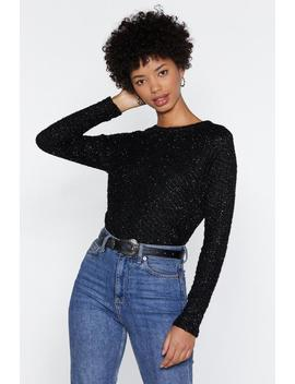 Shine Brighter Tinsel Sweater by Nasty Gal