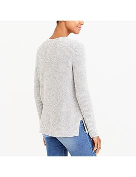 Textured Cotton V Neck Pullover Sweater by J.Crew