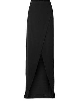 Crepe Wrap Maxi Skirt by Gareth Pugh