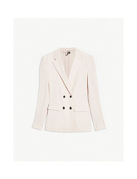 Double Breasted Crepe Blazer by Topshop