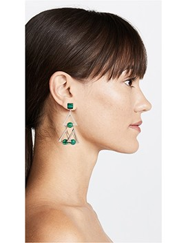 Studded Stone Geo Statement Earrings by Tory Burch