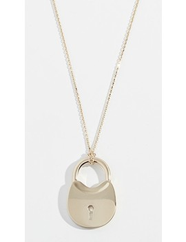 Surreal Lock Pendant Necklace by Tory Burch
