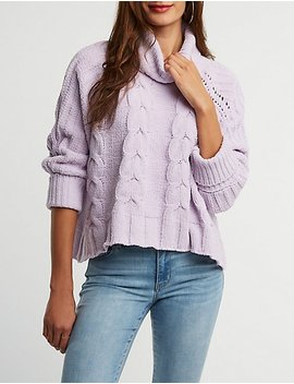 Chenille Oversize Pullover Sweater by Charlotte Russe
