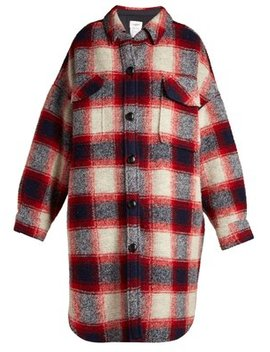 Gario Oversized Checked Wool Coat by Isabel Marant Étoile