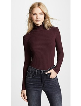 Ribbed Turtleneck by 3x1
