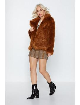 Go Fur It Faux Fur Coat by Nasty Gal