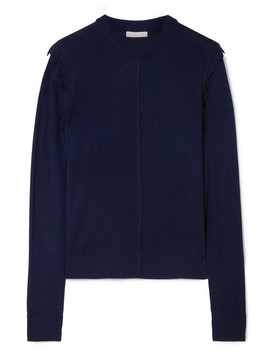 Scalloped Wool Sweater by Chloé