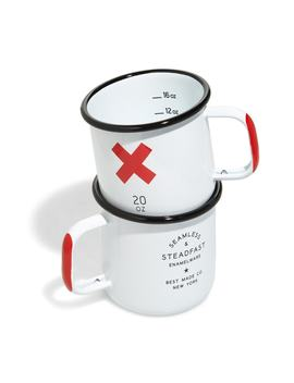 Set Of 2 Enameled Steel Mugs by Best Made Co.