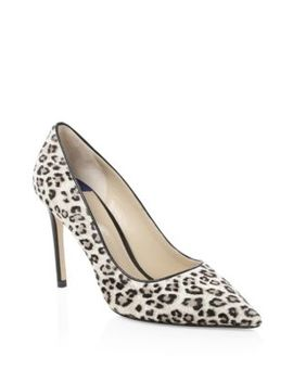 Leigh Calf Hair Pumps by Stuart Weitzman