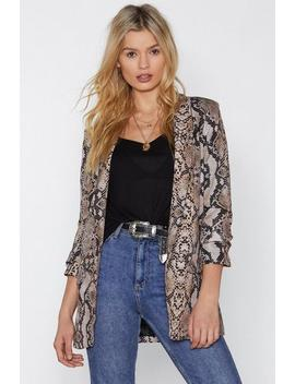 Fangs For Nothing Snake Blazer by Nasty Gal