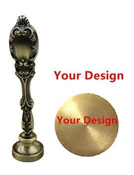 Mdlg Customize Your Design Picture Logo Text Wax Seal Stamp Vintage Peacock Copper Handle Set by Mnyr