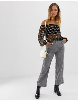 Wednesday's Girl Vintage Fit Pants In Stripe by Wednesday's Girl