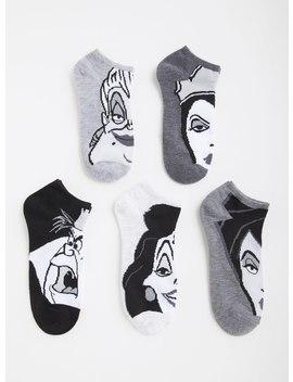 Disney Villains No Show Socks   Pack Of 5 by Torrid