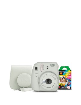 Smokey White Instax Mini 9 Camera Bundle 3 Piece Set by Instax Mini By Fujifilm
