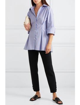Striped Cotton Poplin Shirt by Totême