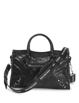 Small City Leather Logo Strap Bag by Balenciaga