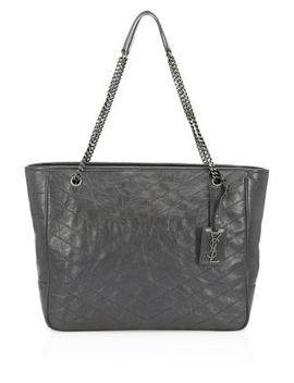Large Niki Crinkle Leather Tote by Saint Laurent