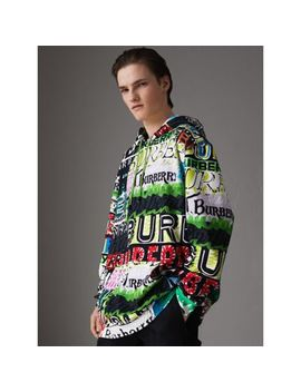 Oversized Logo Print Cotton Hoodie by Burberry