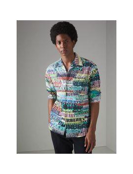 Tag Print Cotton Shirt by Burberry