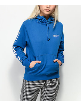 Obey New World 3 Sapphire Hoodie by Obey